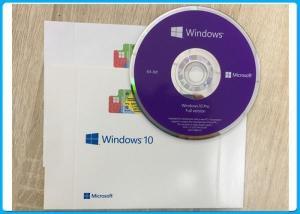 China Microsoft Windows 10 Professional 64Bit Software DVD  pack + OEM Key ( COA ) on sale