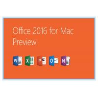 Home and Business Microsoft Office Professional 2016 Product Key for Mac Genuine license installation