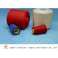 High Strengh Colored Polyester Sewing Thread , Polyester Spun Yarn 20s-60s