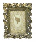 Exquisite Silver Leaf Antique Style Photo Frames 5 X 7 Ivory Brushed Handcrafted