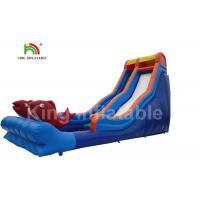 10m High Giant Red Fish Inflatable Water Slide With Staircase For Children
