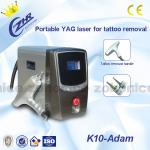 Portable ND YAG Laser Tattoo Removal Machine 1064nm / 532nm For Beauty Salon