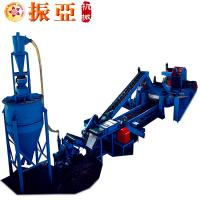 Rubber Granules Tire Recycling Machine , Shredder Crumb Rubber Machinery