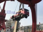 HOWO 6x4 10 Ton Folding Boom Truck Mounted Crane Red Color,Material Is Carbon Steel