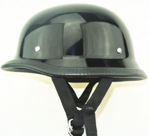 China Black colour German Style Polo Novelty Motorcycle Half Helmet total 6 size on sale