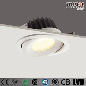 China Adjustable Spot 15W Anti Glare LED Recessed Downlight For Hotel / Villa / Restaurant on sale