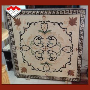 China Cut - To - Size Water Jet Medallion , Polished Marble Medallion Floor Tile on sale