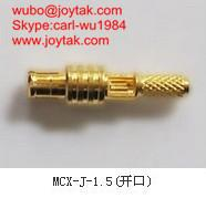China L'or de haute qualité a plaqué le connecteur coaxial 50ohm MCX-J-1.5 de cuir embouti du streight MCX on sale