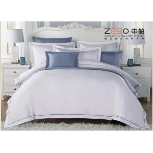 China Solid Color Hotel Luxury Linens , Contemporary Bed Linen 60s 80s Yarn Count on sale