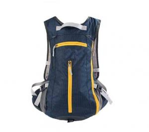 China Dark Blue Camping Hiking Backpack Waterproof Nylon Sports Bag With Helmet Pocket on sale