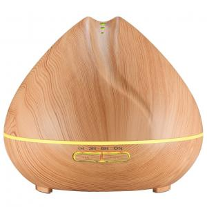 China Shark Mouth Design 400ml Ultrasonic Essential Oil Diffuser Wooden Ultrasonic Aromatherapy Diffuser on sale