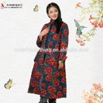 Papaver rhoeash floral embroidered Chinese traditional clothing for winter