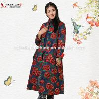 China Papaver rhoeash floral embroidered Chinese traditional clothing for winter on sale