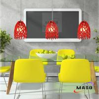 China Red Coral Design Home Branch Resin Pendant Lamp Restaurant Lighting on sale