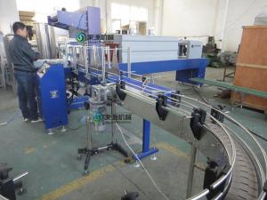 China 15Kw Juice PET Bottle Shrink Packing Machine 0.03mm - 0.15mm Sticker Labeling Machines on sale