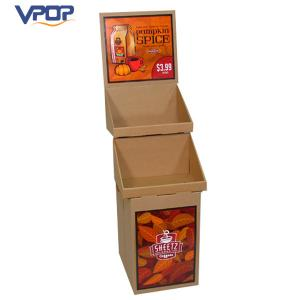 China Coffee Cups Cardboard Floor Displays , Stand Up Cardboard Display With Cells on sale