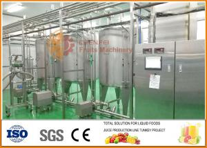 China SS304 Blending System , High Effiency Complete Juice And Jam Blending line on sale