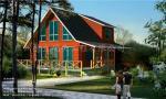 Casa de campo de madeira de madeira de Buiding da casa de madeira