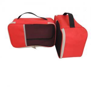 China Nylon Fabrics Slipper Shoe Storage Bag Transparent With Hand Hold Strip on sale