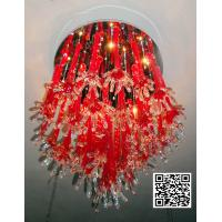 Art glass ceiling lights