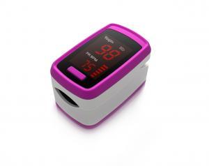 China Adult Blood Oxygen Tester Finger Pulse Oximeter Spo2 Wave Form Colorful on sale