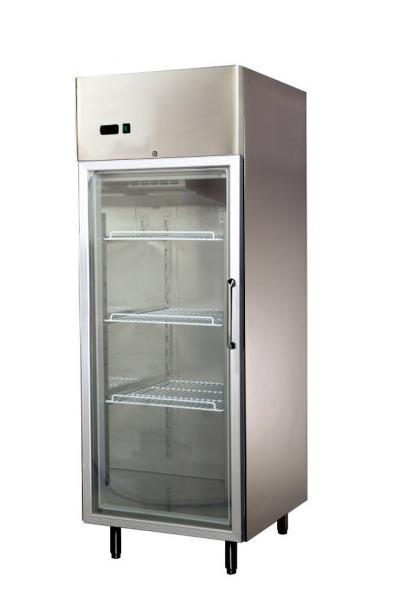 High Efficiency Glass Door Compact Refrigerator Freezer For Bar ,  740x870x2050 Images