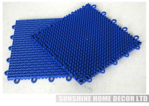 China Colorful Athletic Floor Mats , Portable Indoor Flooring Cover For Tennis Court on sale