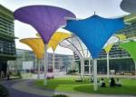 Colorful Tensile Fabric Structures , Roof Shade Structures For Park Shade Metal Frame