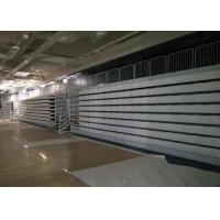 Stable Spectator Retractable Grandstands High Density Polyethylene With Blow Molded Seat