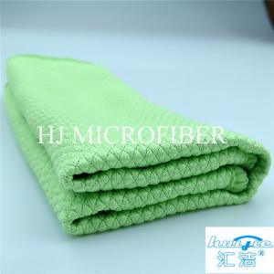 China Home Used Cleaning Towel Microfiber Terry Towel Green Color Washing Tool For Kitchen on sale