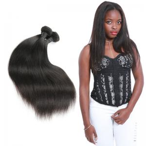 China Real 3 Bundles Of Straight Virgin Hair Weave / Straight Human Hair Extensions supplier