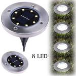LED Underground Lights Small Round Solar Cell Colloidal Lead - Acid Battery
