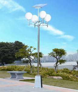 China outdoor solar lamp lights 3.2 - 3.5m LED / LVD 12v dc 9w for Villa , yard, park, garden on sale