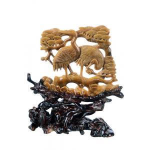 """China 6.69"""" Tiger Eye Jade Carved Animal Sculpture - Crane (AG16) on sale"""