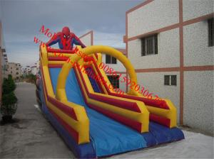 China giant inflatable slide for sale industrial inflatable water slide sipderman inflatable on sale