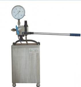 China 304/316/316L Stainless steel Hydrostatic test pump 16-1000bar on sale