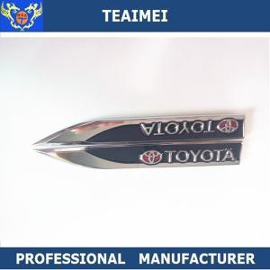 China 2PC Metal  Car Side Fender Auto Knife Body Sticker Badge Emblem 98*18mm on sale
