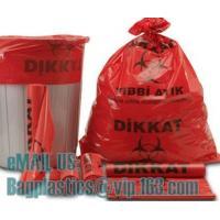 Popular PE biohazard eco bag,garbage bag,plastic bag, PE Biohazard Bag with zip,plastic biohazard zipper lock bag