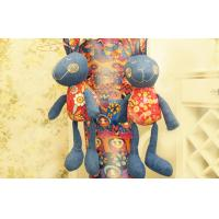 China Old jeans soft homemade Stuffed toys , Recycle-crafts denim Rabbit 12 on sale