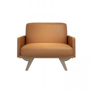 China Modern wood sofa furniture for Lobby leisure used leather upholstery used Ash wood legs on sale