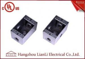 China 1/2 3/4 Two Gang Electrical Box Waterproof Terminal Box Powder Coated , UL Listed on sale