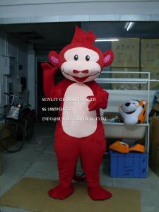 China red monkey mascot costume, advertising monkey mascot costume on sale