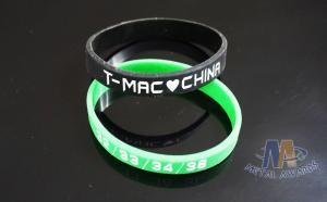 China Interchangeable Custom Plastic Bracelets Promotional Silicone Bracelets 200 * 12 * 2mm on sale