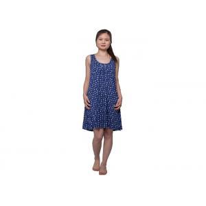 China Ladies Cotton Bamboo Jersey Pyjamas , Dots Print Sleeveless Woman Dress on sale