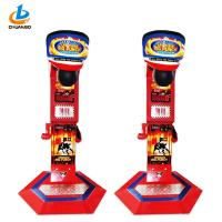 China Red Coin Operated Game Machine Arcade / Electronic Punching Bag Machine on sale