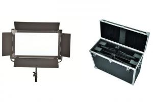 China High Soft Brightness Long Broadcast Studio Led Lighting Kits With Black Barndoor on sale