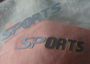China Custom 3D high density silicone heat transfer logos for outdoor garment on sale