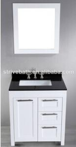 China 30'' SB-267-1 Contemporary Single Sink Vanity Cabinet Black Granite on sale