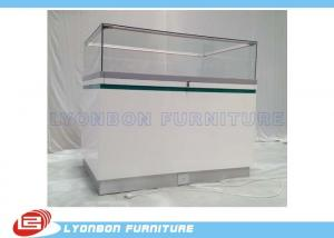 shop white painted wood display cabinets glass showcase with led