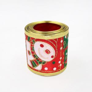 China christmas wired ribbon for christmas bow on sale